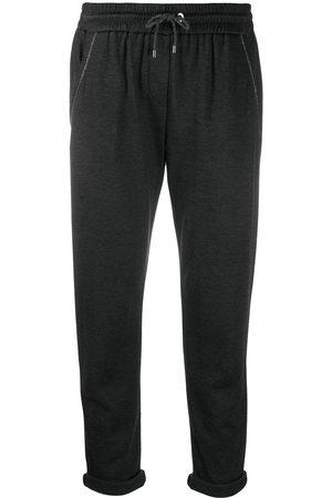Brunello Cucinelli Tapered drawstring sweatpants - Grey