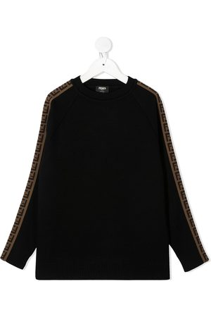 Fendi FF-motif crew-neck jumper