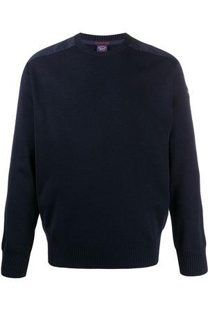 Paul & Shark Crew neck logo patch sweater