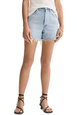 AGOLDE Cotton Denim Shorts in Chimes
