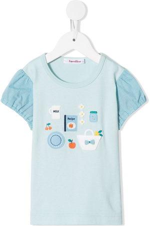 Familiar Puff sleeves T-shirt