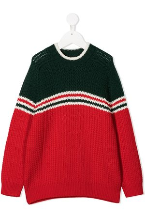 Gucci Two-tone knitted jumper