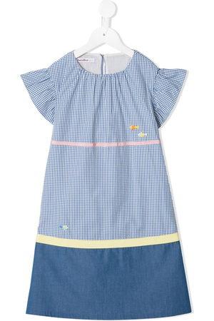 Familiar Girls Printed Dresses - Check print dress