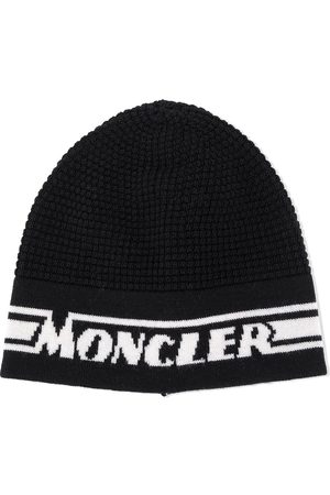 Moncler Boys Beanies - Logo jacquard knit beanie