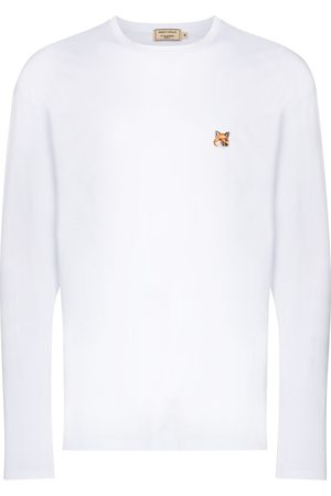 Maison Kitsuné Long sleeve fox patch T-shirt