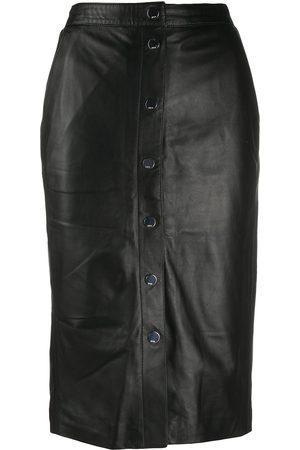 Karl Lagerfeld High-rise leather skirt