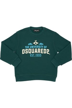 Dsquared2 University Printed Cotton Sweatshirt