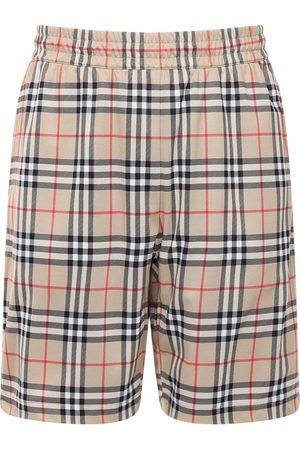 Burberry Check Techno Shorts W/ Mesh Lining
