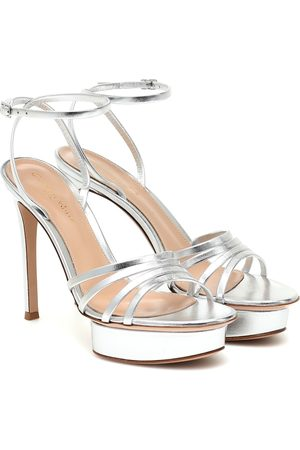 Gianvito Rossi Leather platform sandals