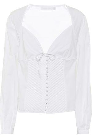 JONATHAN SIMKHAI Stretch-cotton blouse