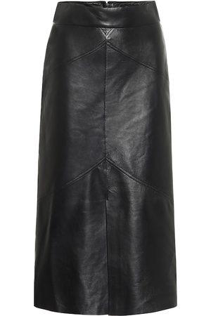 Isabel Marant Xomi leather midi skirt