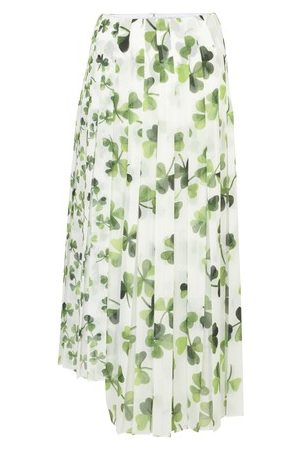 Loewe Women Maxi Skirts - Shamrock pleated skirt