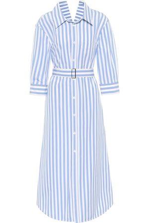 Marni Striped cotton poplin shirt dress