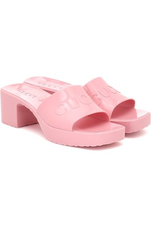 Gucci Logo rubber platform sandals