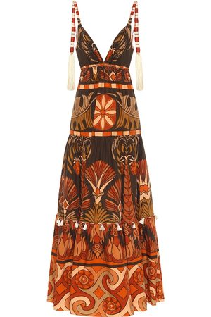 JOHANNA ORTIZ Neptunian printed cotton maxi dress
