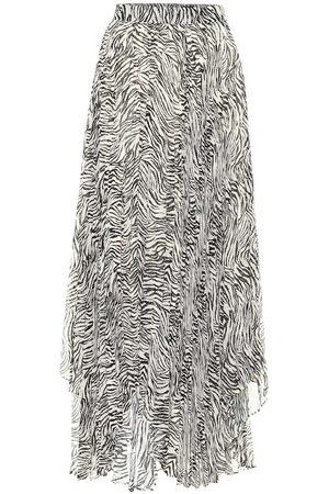 Isabel Marant Alena zebra-print silk-blend midi skirt