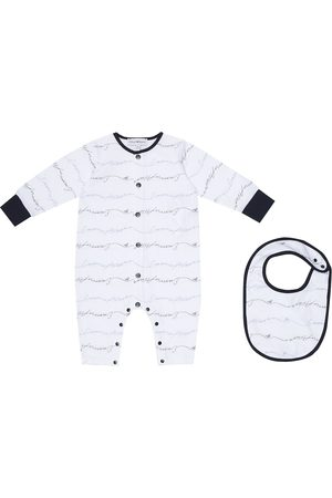 Emporio Armani Rompers - Logo cotton onesie and bib set