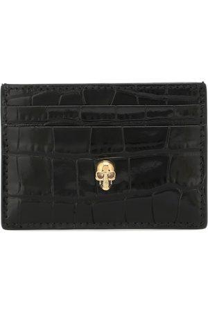 Alexander McQueen Croc-effect leather cardholder