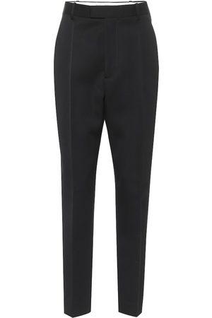 Bottega Veneta High-rise wool slim pants