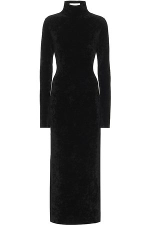 Jil Sander Velour mockneck midi dress