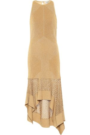 Alexander McQueen Metallic knit midi dress