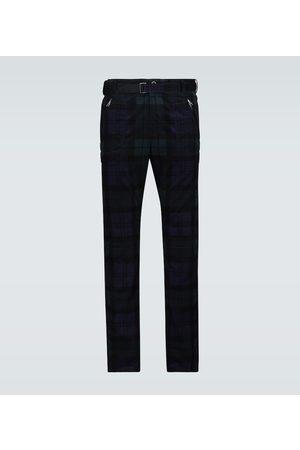 SACAI Checked corduroy slim-fit pants