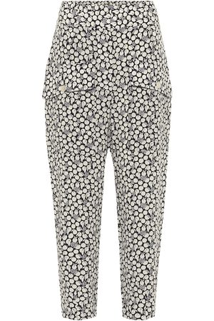 Stella McCartney Cecilia printed silk cropped pants