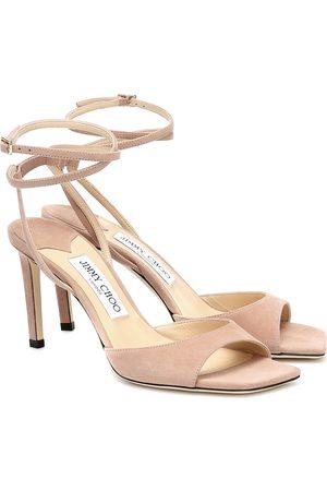 Jimmy Choo Women Sandals - Mori 85 suede sandals