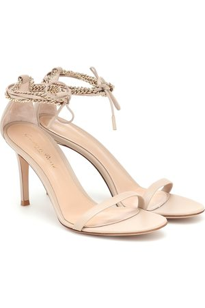 Gianvito Rossi Kira 85 leather and chain sandals