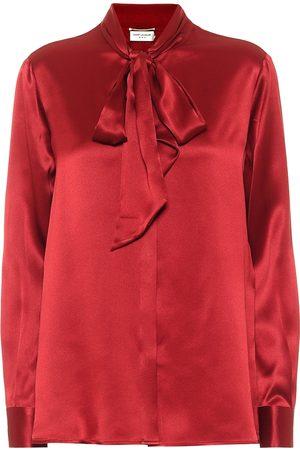 Saint Laurent Women Blouses - Silk-satin blouse