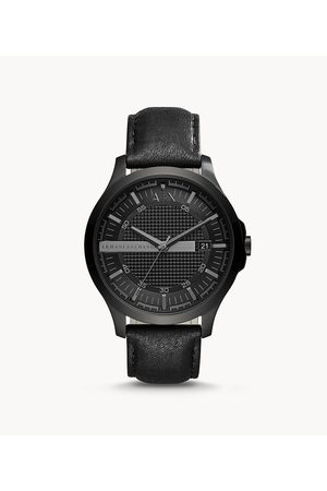 Armani Men's Three-Hand Date Leather Watch