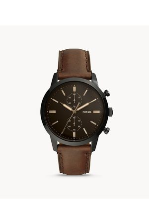 Fossil Men Watches - Men's Townsman 44Mm Chronograph Leather Watch