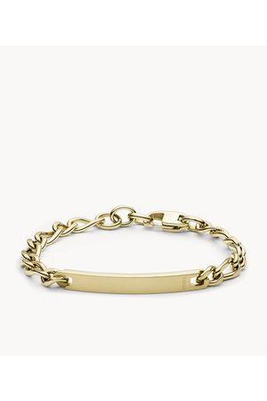Fossil Men Bracelets - Men's -Tone Steel Plaque Bracelet