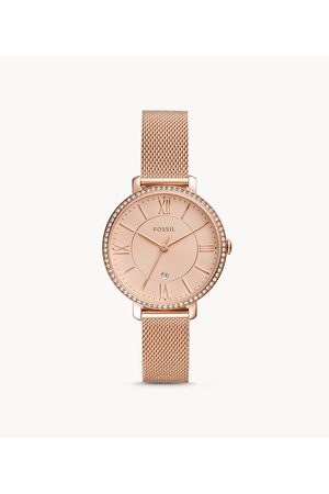 Fossil Jacqueline Three-Hand Date Rose Gold-Tone Stainless Steel Watch Es4628 jewelry - ES4628-WSI