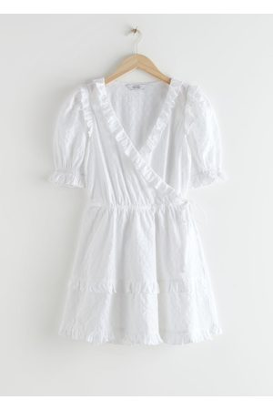& OTHER STORIES Frilled Embroidered Mini Dress