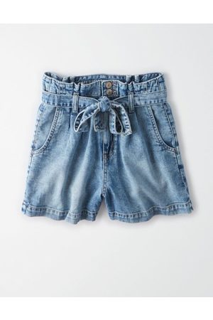 American Eagle Outfitters Paperbag Denim Mom Shorts Women's 8