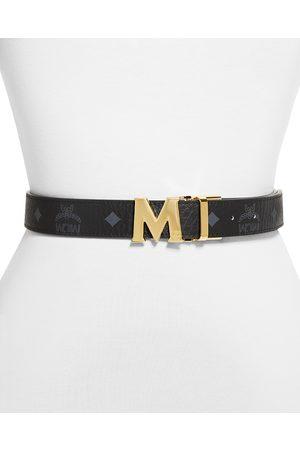 MCM Unisex M Logo Reversible Belt