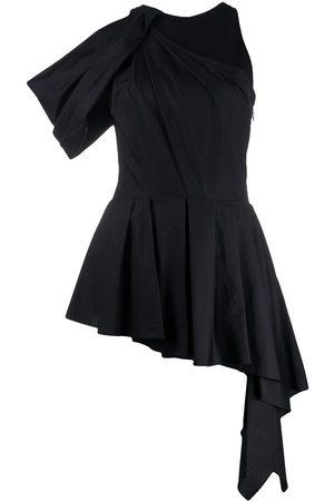 Alexander McQueen Women Halterneck Tops - Halterneck drape detail blouse