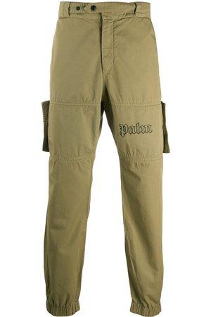 Palm Angels Logo-print utility trousers - Neutrals