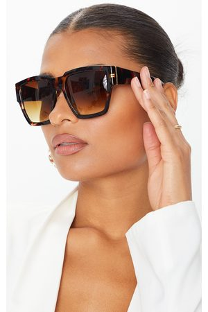 PRETTYLITTLETHING Women Square - Tortoiseshell Oversized Square Sunglasses