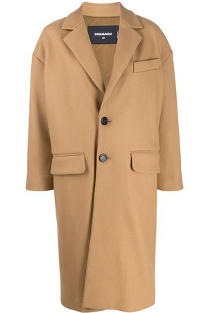 Dsquared2 Tailored single-breasted coat - NEUTRALS