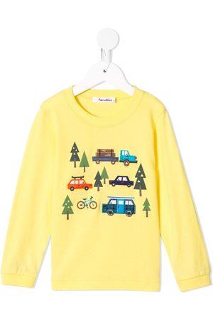Familiar Trees print sweatshirt