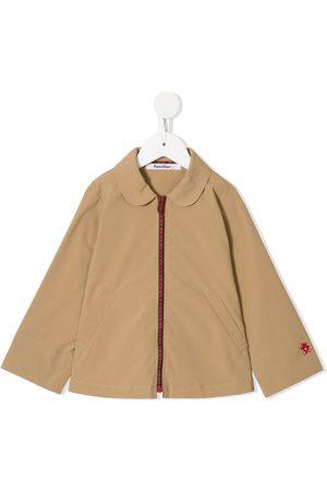 Familiar Round-collar jacket