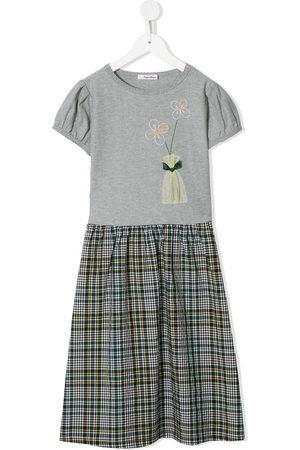 Familiar Stitched floral dress - Grey