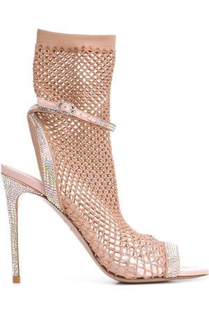 LE SILLA Gilda sock-mesh sandals - Neutrals