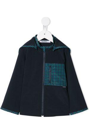 Familiar Check-trim hooded jacket