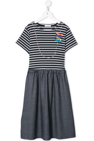 Familiar Striped short-sleeve dress