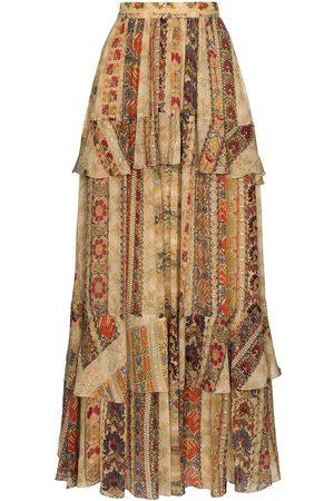 Etro Women Printed Skirts - Tapestry print silk maxi skirt