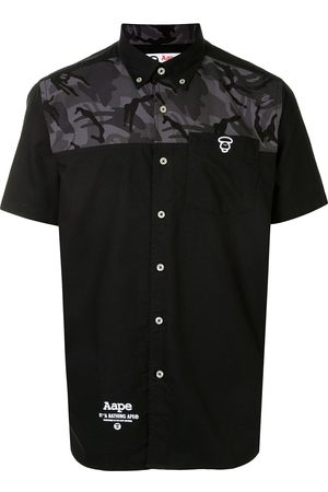 AAPE BY *A BATHING APE® Logo camouflage shirt