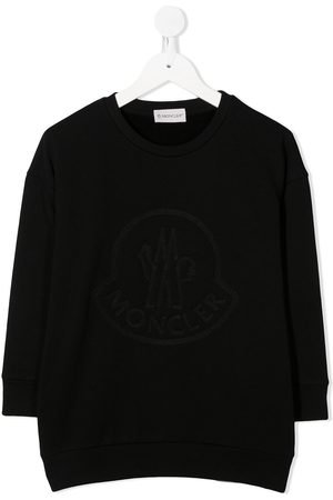 Moncler Girls Casual Dresses - Embroidered logo sweater dress